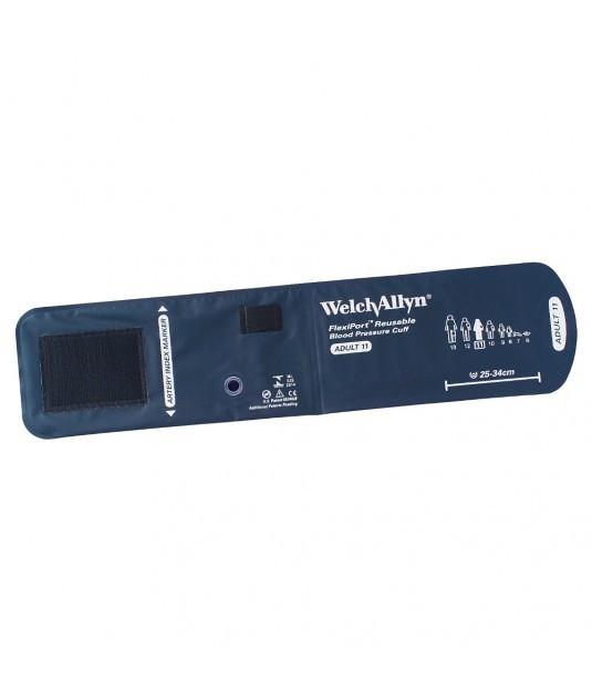 Imagem com fundo branco e ao centro Braçadeira Welch Allyn para aparelho de aferição de pressão