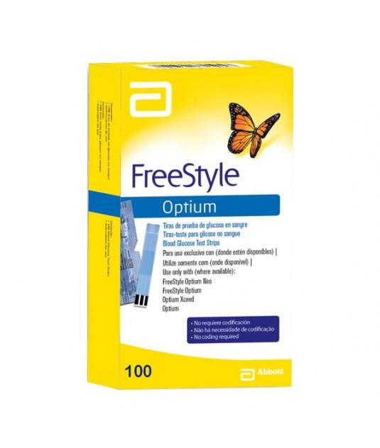 Caixa de tiras Freestyle Optium com 100 tiras azul